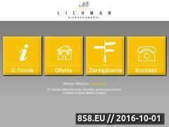Miniaturka domeny lichman-nieruchomosci.com