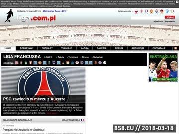 Zrzut strony Liga francuska - footballclub.pl