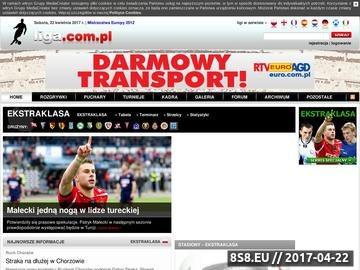 Zrzut strony Ekstraklasa - footballclub.pl