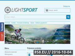 Miniaturka lightsport.pl (Sklep rowerowy - rowery, części i akcesoria)