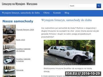 Zrzut strony Wynajem Limuzyn Warszawa