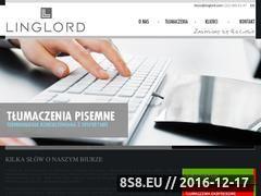 Miniaturka linglord.com (Agencja tłumaczeń)