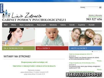 Zrzut strony Pomoc psychologiczna i terapeutyczna