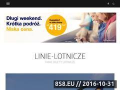 Miniaturka www.linie-lotnicze.com.pl (Blog i infromacje na temat promocji lotniczych)