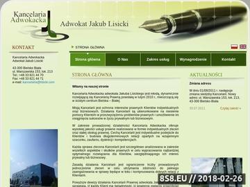 Zrzut strony Kancelaria Adwokacka Adwokat Jakub Lisicki Bielsko-Biała