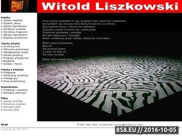 Zrzut strony Liszkowski Witold - artysta malarz