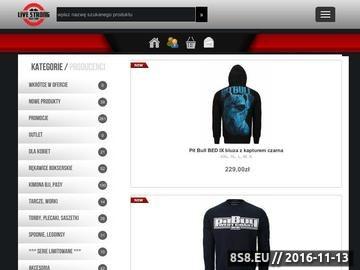 Zrzut strony Sprzedaż akcesoriów, sprzętu oraz odzieży do sportów walki i MMA