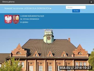 Zrzut strony Liceum Ogólnokształcące w Leborku