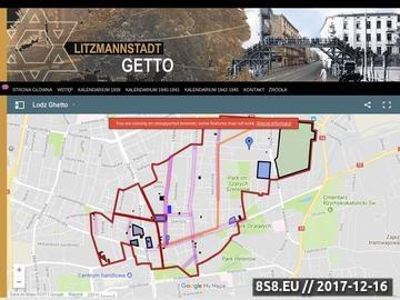 Zrzut strony Litzmannstadt Getto, Łódzkie Getto