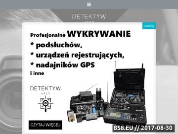 Zrzut strony Usługi detektywistyczne Łódź
