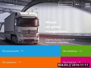 Zrzut strony Europejska giełda transportowa TRANS