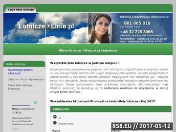 Zrzut strony Tanie linie lotnicze - PROMOCJE - Bilety od 1 PLN