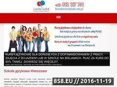 Miniaturka www.luckyluke.edu.pl (Kursy dla dzieci i młodzieży, dorosłych)