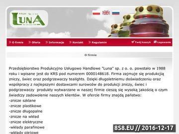 Zrzut strony Znicze - LUNA - Producent zniczy, świec i podgrzewaczy