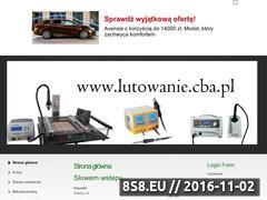 Miniaturka domeny lutowanie.cba.pl