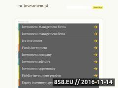 Miniaturka domeny www.m-investment.pl