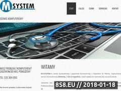 Miniaturka m-system.pc.pl (Naprawa, serwis komputerowy oraz pogotowie komputerowe)