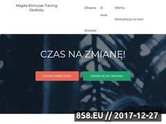 Miniaturka magdaklimczak.com (Trener personalny Katowice)