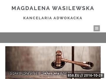 Zrzut strony Usługi prawnicze Magdalena Wasilewska
