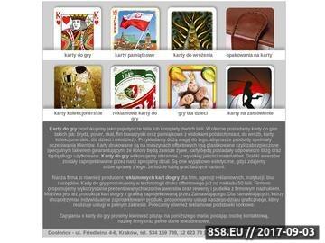 Zrzut strony Karty reklamowe i podstawki korkowe