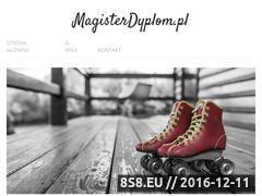 Miniaturka domeny www.magisterdyplom.pl