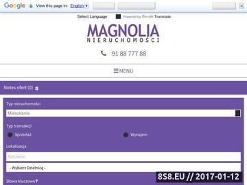 Zrzut strony Nieruchomości Szczecin