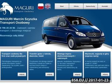 Zrzut strony Maguri - Transport Osób
