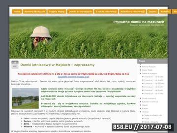 Zrzut strony Domki w Majdach na Mazurach zapraszają