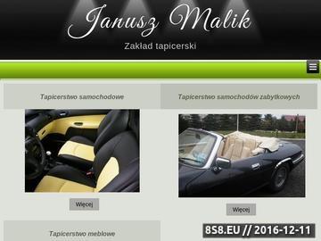 Zrzut strony Tapicerstwo - Wieliczka, Kokotów - Malik Janusz, zakład tapicerski