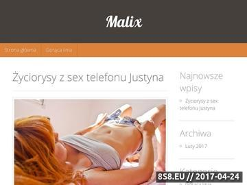 Zrzut strony Malix - opieka informatyczna dla firm