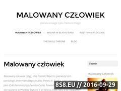 Miniaturka malowanyczlowiek.pl (Fanpage powieści Malowany Człowiek)