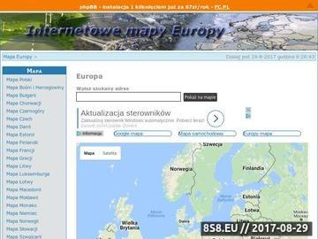 Zrzut strony Mapa Europy