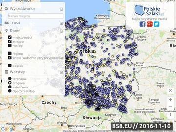 Zrzut strony Turystyczna mapa Polski
