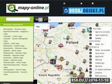 Zrzut strony Mapy Online - plany miast, położenie miejscowosci, atrakcji, hoteli i noclegów