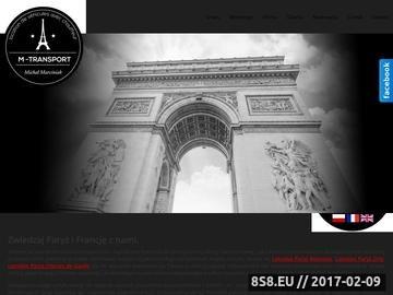 Zrzut strony Transport do Francji