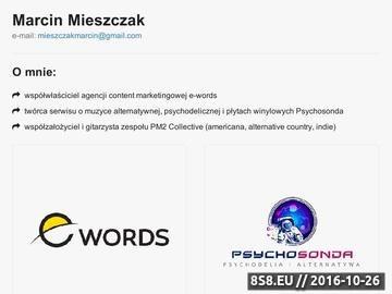 Zrzut strony Pisanie tekstów, ofert - copywriter Marcin Mieszczak (Bielsko)