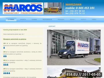 Zrzut strony Marcos przeprowadzki Warszawa firm i mieszkań