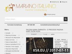 Miniaturka marianoitaliano24.pl (Sprzedaż kawy ziarnistej i ekspresów)