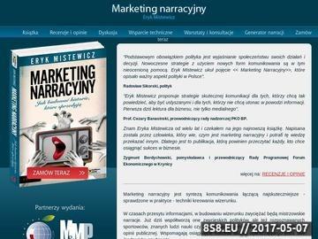 Zrzut strony Wydawnictwa dotyczące marketingu narracyjnego