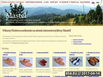 Zrzut strony Mastel - wiodący producent obuwia regionalnego i ortopedycznego