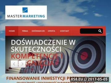 Zrzut strony Dotacje Master Marketing Piotr Bogucki