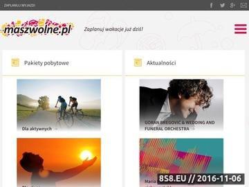 Zrzut strony Maszwolne.pl - pensjonaty nad morzem