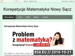 Miniaturka Korepetycje z matematyki w Nowym Sączu (matematyka-korepetycje-nowysacz.blogspot.com)