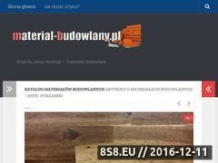 Miniaturka domeny material-budowlany.pl