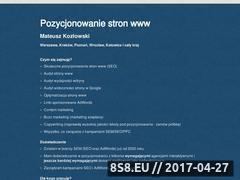 Miniaturka domeny www.mateuszkozlowski.pl