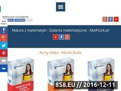 Miniaturka matfiz24.pl (Korepetycje z matematyki online)