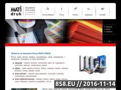 Miniaturka domeny www.matidruk.pl