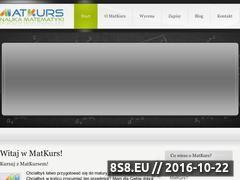 Miniaturka www.matkurs.pl (Kursy maturalne z matematyki w Lublinie)