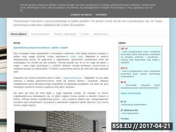 Zrzut strony Prezentacje maturalne z języka polskiego