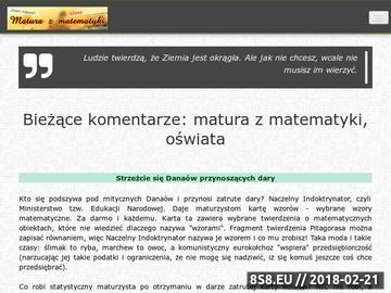 Zrzut strony Matura z matematyki.